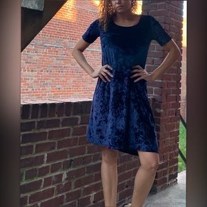 CLOSEOUT Westport 1962 Crushed Velvet Blue Dress
